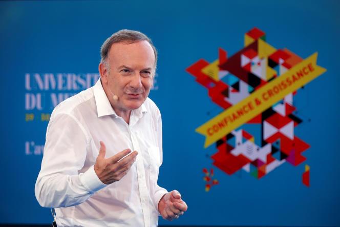 Le président du Medef, Pierre Gattaz, le 29 août.