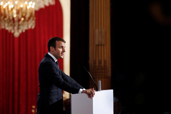 Le président Emmanuel Macron lors de la conférence des ambassadeurs à Paris, le 29 août.