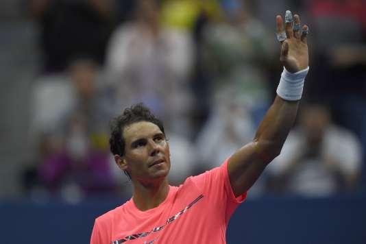 L'Espganol Rafael Nadal, le 29 août, à New York dans le cadre de l'US Open.