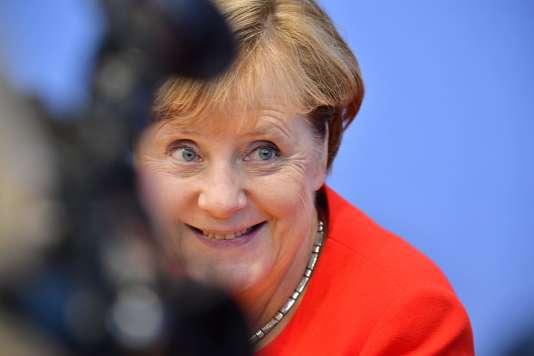 Angela Merkel à Berlin, le 29 août.