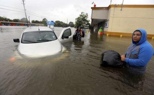 Dans les rues de Houston, le 28 août.