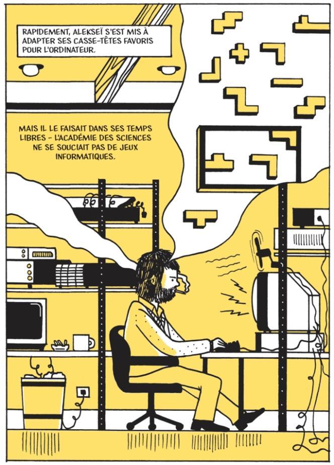 Planche extraite de« Tetris. Jouer le jeu», de Bob Brown.