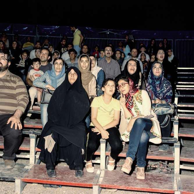 Zanjan (au nord-ouest de Téhéran), septembre 2016. Lors d'une représentation du cirque Khalil Oghab.
