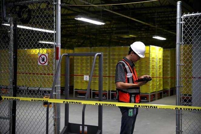 Centre de logistique Amazon, à Sacramento (Californie), le 10 août.