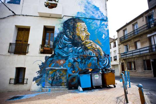 «Le Penseur» de C215, une des premières œuvres du Musée à ciel ouvert de Sète.