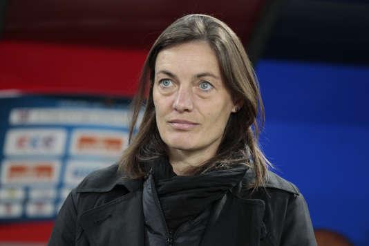 Corinne Diacre, le 28 octobre 2014 à Caen.