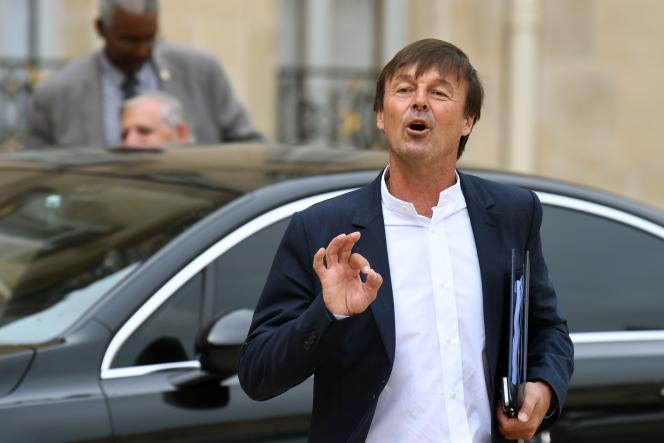 Le ministre de la transition écologique et solidaire Nicolas Hulot à Paris le 30 août.