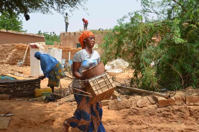 Des nombreuses maisons ont été détruites par les eaux à Niamey, la capitale, ou une partie des habitants ont été évaucés en fin de semaine dernière.