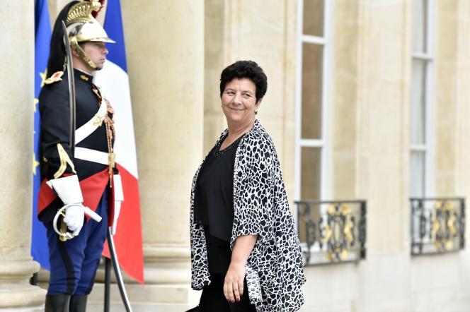 La ministre de l'enseignement supérieur et de la recherche, Frédérique Vidal, à Paris le 30 août 2017.
