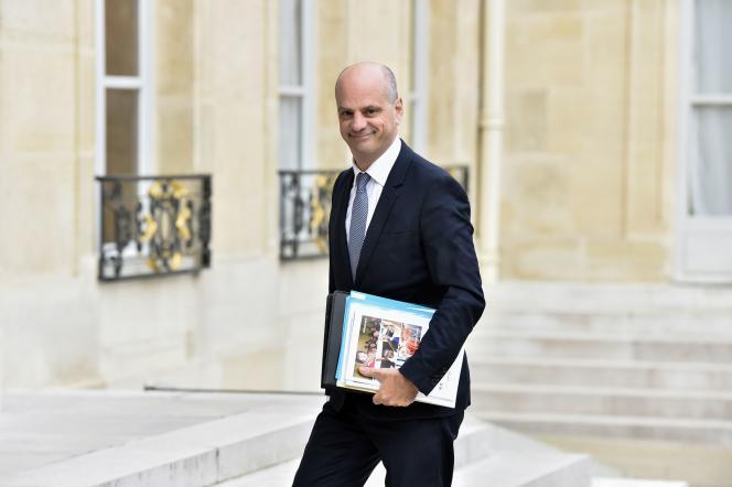 Jean-Michel Blanquer, ministre de l'éducation, à l'Elysée, le 30 août.