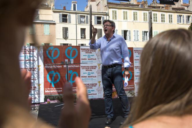 Jean-Luc Mélenchon à Marseille, le 27 août 2017.