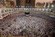 Des musulmans prient à la Grande mosquée avant le pèlerinage annuel du Hadj à La Mecque, Arabie Saoudite le 29 août.