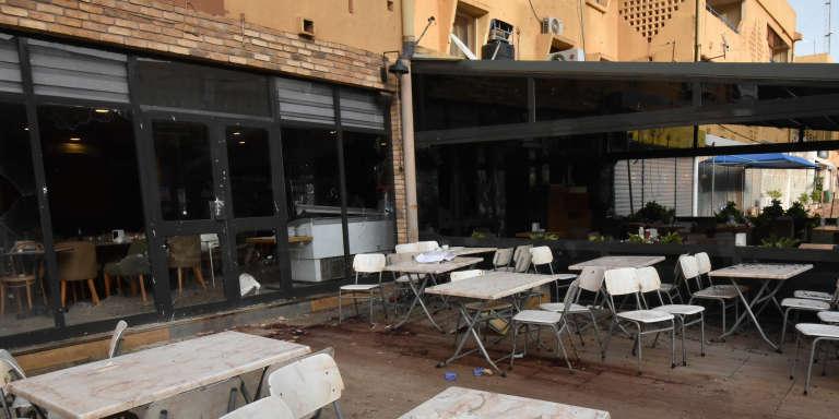 Le restaurant Aziz Instanbul, à Ouagadougou, le 15août 2017, deux jours après l'attentat qui a fait 19morts.