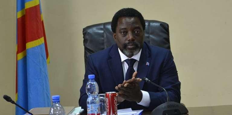 Le président congolais Joseph Kabila en déplacement àTshikapa, dans une province du Kasaï, le 13 juin 2017.