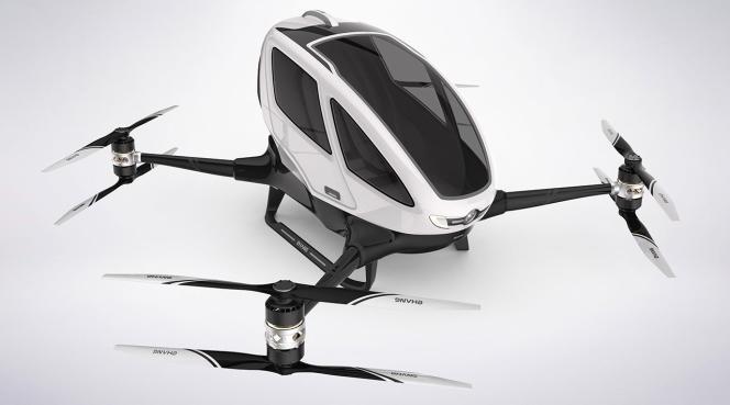 Le prototype Ehang 184, l'un des plus avancés parmi les nombreux projets de «voitures volantes ».