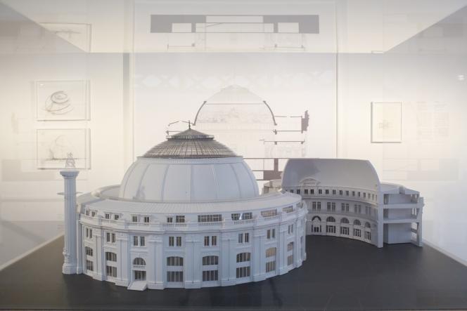 La maquette du projet de Tadao Ando pour la Bourse de commerce, qui abritera, en 2019, la collection de la Fondation Pinault.