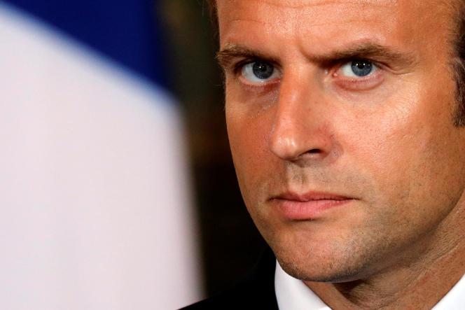 Emmanuel Macron à l'Elysee, jeudi 31 août 2017.