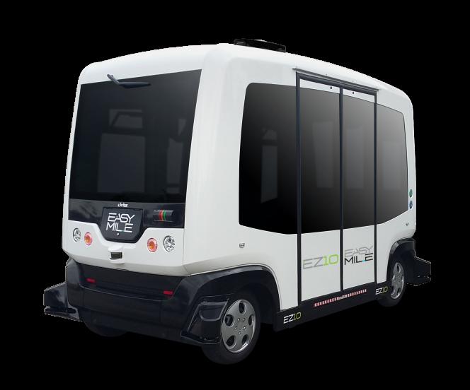 La navette EZ10 propose déjà une balade sans chauffeur aux visiteurs du parc botanique Gardens by the Bay, à Singapour.
