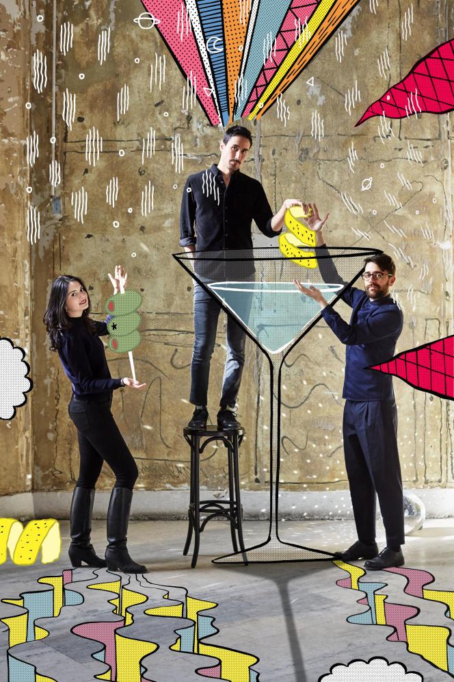 Carine Soto, Adam Tsou et Joshua Fontaine, les créateurs des Grands Verres.