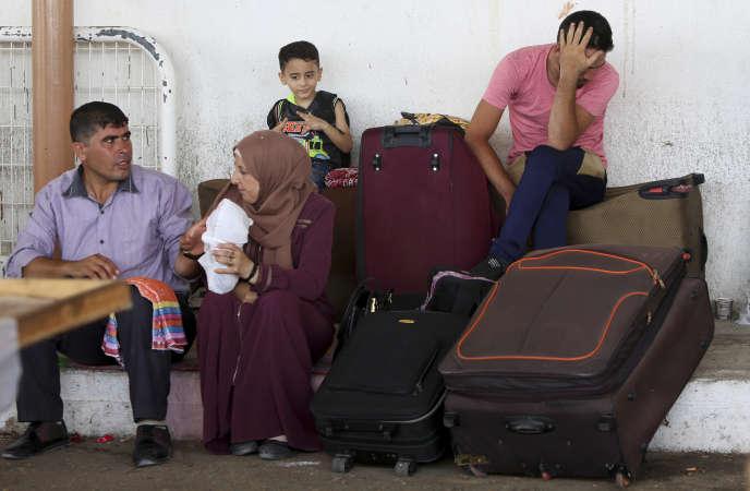 Au point de passage de Rafah, le 27 août.