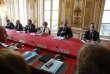 Muriel Penicaud et Edouard Philippe à Matignon, le 31 août, pendant la rencontre avec les syndicats, à l'occasion de la présentation des ordonnances de la loi travail.