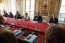 Muriel Penicaud et Edouard Philippe, à Matignon, le 31 août, lors de la rencontre avec les syndicats, à l'occasion de la présentation des ordonnances de la loi travail.