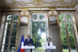 """France's Prime Minister Edouard Philippe, left, and Labor Minister Muriel Penicaud give a media conference in Paris, Thursday, Aug. 31, 2017. France's prime minister says five bold, and divisive, labor reforms are meant to """"cure"""" not """"treat the symptoms"""" of France's high long-standing jobless rate. (AP Photo/Thibault Camus)"""
