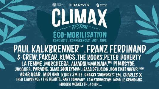 Affiche du Climax Festival, à Bordeaux et Cenon.