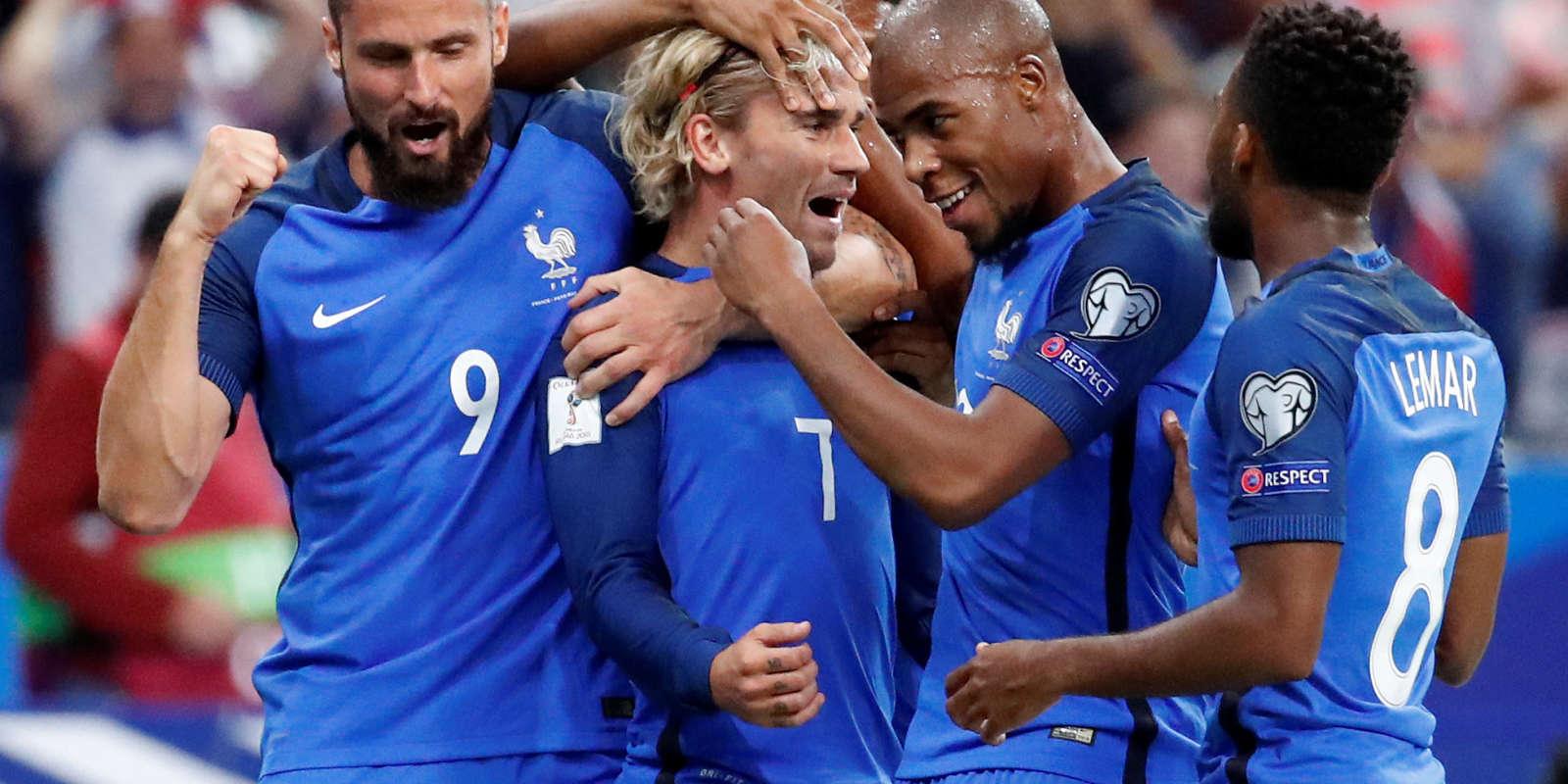 Antoine Griezmann célèbre son but face aux Pays-Bas, jeudi 31 août 2017.