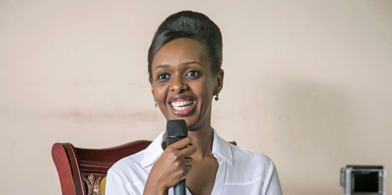 L'opposante rwandaise Diane Shima Rwigara lors d'une conférence de presseà Kigali, le 3mai 2017.