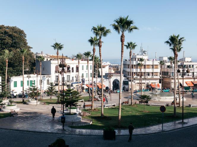 La place du 9-Avril, dite« Grand Socco», à Tanger, en 2013.
