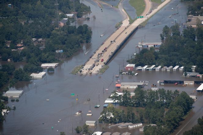 Houston, au Texas, le 31août 2017, après le passage de l'ouragan Harvey.