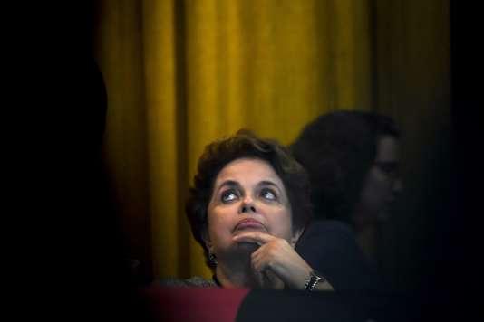 L'ancienne présidente du Brésil, Dilma Rousseff, le 31 août à Rio de Janeiro.