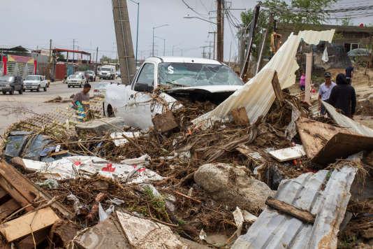 Après la tempête Lidia, à Los Cabos, au Mexique, le 1er septembre.