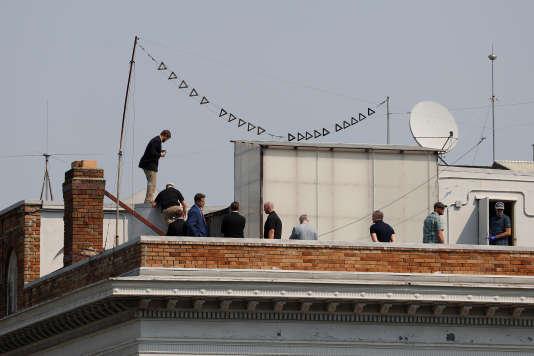 Sur le toit du consulat général de Russie à San Francisco, en Californie, le 2 septembre.