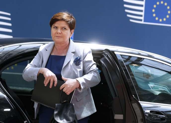 La première ministre polonaise, Beata Szydlo, au Conseil européen de Bruxelles, en juin 2017.