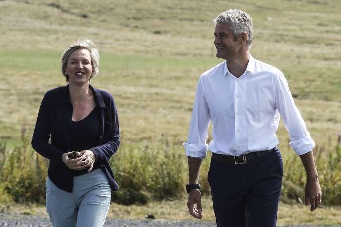 Virginie Calmels et Laurent Wauquiez, le 3 septembre 2017 au Mont Mézenc.