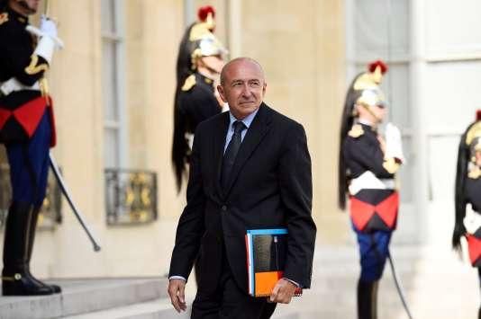 Le ministre de l'intérieur, Gérard Collomb, à l'Elysée (Paris), le 30 août.