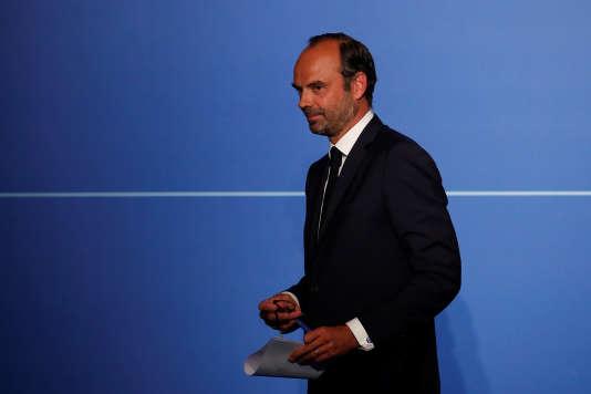 Le premier ministre Edouard Philippe à l'Elysée (Paris), le 28 août.