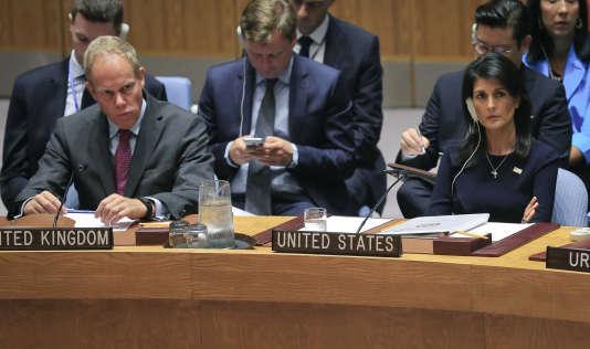 L'ambassadrice américaine à l'ONU, Nikki Haley, le 4 septembre à New York.