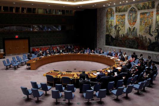 Le Conseil de sécurité des Nations unies, réuni à New York pour évoquer un lancement de missile par la Corée du Nord, le 29 août.