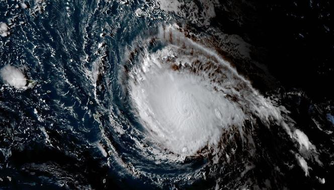 Vue du phénomène cyclonique Irma, qui menace les Caraïbes, le 4 septembre.