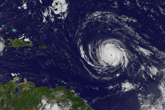 L'ouragan Irma, dans les Antilles, le 4 septembre.
