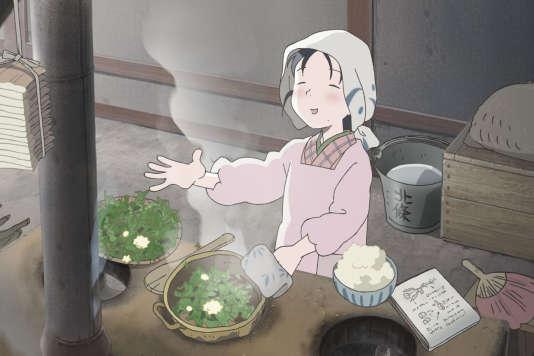 Une image extraite du film d'animation japonais deSunao Katabuchi,«Dans un recoin de ce monde».