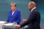 «Le programme électoral du SPD entend répondre à une situation économique paradoxale où de nombreux chantiers restent ouverts». (Photo : Le 3 septembre, lors de l'unique débat télévisé, les candidats de la CDU (Angela Merkel, à gauche) et du SPD (Martin Schulze, à droite) ont dialogué plus que bataillé, l'un opinant souvent de la tête quand l'autre avait la parole).