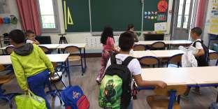 A l'école François Masson, à Marseille, le 4 septembre 2017.