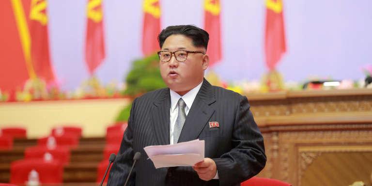 Le leader nord-coréen Kim Jung-un en mai 2016 à Pyongyang.