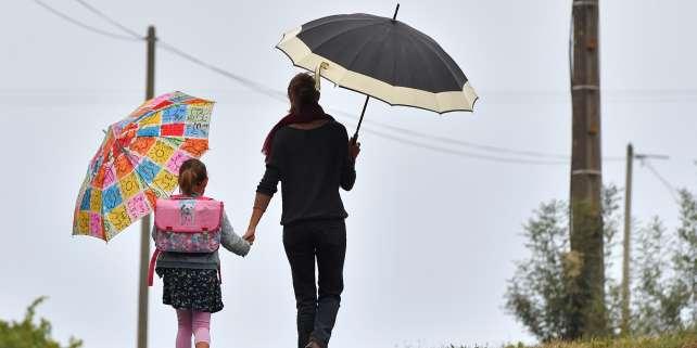 Lundi 4 septembre, rentrée des classes à Vertou, près de Nantes. AFP / LOIC VENANCE