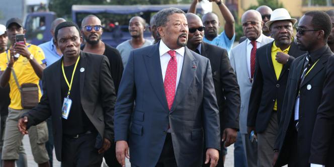 Jean Ping, opposant au président Ali Bongo à Libreville le 25 juillet 2017.