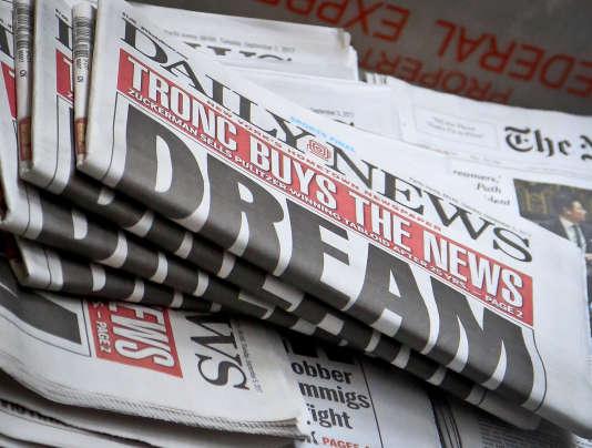 La« une» du« New York The Daily News» de mardi 5 septembre.